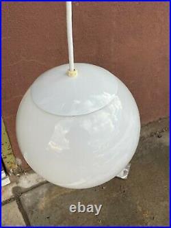 10Authentic Mid Century Modern Glass Orb Hanging Ceiling Light Pendant Lamp VTG