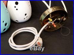 1950 Vintage MID-CENTURY MODERN Ceramic HANGING PENDANT LAMP Ceiling Light EAMES