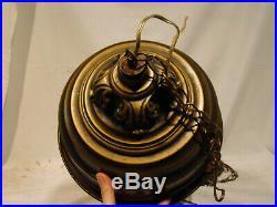 1970s VINTAGE GREEK GODDESS HANGING SWAG RAIN MINERAL OIL LAMP CHANDELIER 30 MCM