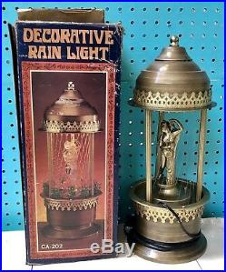 1970s VINTAGE Hanging RAIN LAMP-NEW IN ORIGINAL BOX! (Greek Goddess)