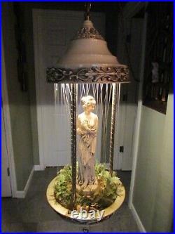 1970s Vintage Creators Inc. Grist Mill Hanging Mineral Oil Rain Lamp 30 x 10