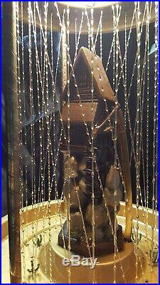 1970s Vintage Creators Inc. Grist Mill Hanging Mineral Oil Rain Lamp 36 x 12