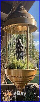 1970s Vintage Creators Inc. Grist Mill Hanging Mineral Oil Rain Lamp 36 x 14