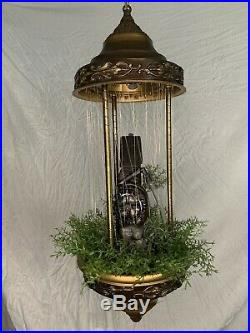 1970s Vintage Creators Inc. Old Grist Mill Hanging Mineral Oil Rain Lamp 30