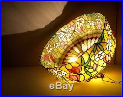 23 Vintage Tiffany Style Stained Glass Hanging Lamp