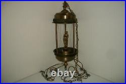 30 Nude Goddess Rain Oil Hanging Swag Lamp Vintage Retro 70s