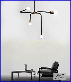 4 Lights Metal Branch Retro Pendant Vintage Industrial Lighting Hanging Fixtures