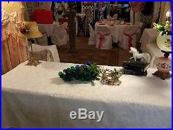 60's Vintage 18 Large Lucite Acrylic Cluster Grapes Retro Hanging Lamp Light