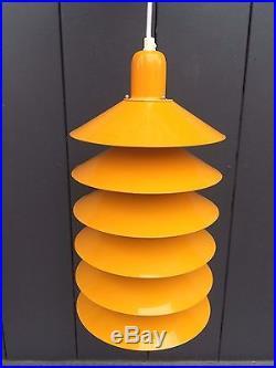 70's Danish Tip Top hanging lamp Gammelgaard Fog & Morup vintage space age 60's
