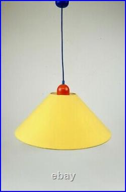80s Vintage Italian Postmodern Memphis Sottsass Age Hanging Ceiling Lamp Pendant