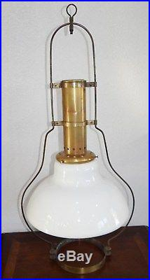 Aladdin 115 Hanging Lamp Frame with215 Glass Shade Kerosene Model 6 Vtg Antique