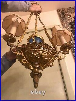 Antique Bronce Hanging Ceiling Hall Lamp Pendel
