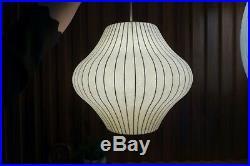Auth Vtg Original George Nelson Pear Hanging Bubble Lamp Howard Miller MCM Eames