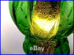 Beautiful Green Glass Vintage Mcm Hanging Swag Lamp Light With Diffuser