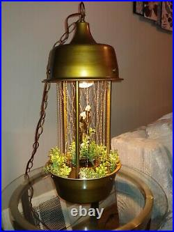 Beautiful Vintage Hanging Mineral Oil Rain Lamp 60's/70's Antique