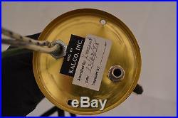 Beautiful Vintage Kalco Lighting Brass Pull Down Hanging Steampunk Saucer Lamp