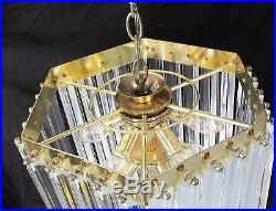 Beautiful Vintage Lucite / Acrylic Ribbon Hanging Mid-Century Chandelier / Lamp