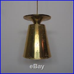 Beautiful vintage mid century hanging light lamp brass orig. 1950s stilnovo era
