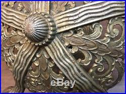 Cast Iron Vintage Chandelier Deco Hanging Lamp Fixture 5 Light Heavy Parts Art