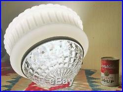 DECO ceiling lamp globe vtg art glass milk chandelier gothic hanging lighting