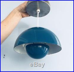 Danish Modern Vintage Authentic Verner Panton Hanging Flower Pot Lamp