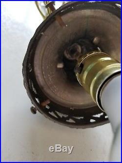 EF & EF Industries, Inc. Vintage Hanging Light Swag Lamp Blue Glass Globe 60s