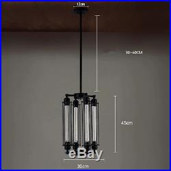 Edison Vintage Flute Hanging Pendant Light Lamp Chandelier Rustic 4-Bulb Fixture