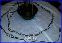 Electric Hanging Oil Lamp, Rain Light, Vintage Chain Goddess Woman Antique Art