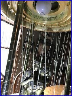 Estate Vintage 1970s Oil Rain Lamp Hanging Swag Dancers in a Gazebo H5