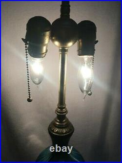 Favrene Blue Hanging Hearts Table Top Lamp Antique/Vintage