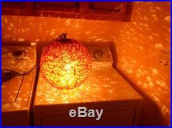 Groovy Vintage Mid Century 13 Spun Lucite Spaghetti Swag Hanging Light Lamp