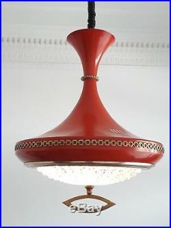 Hanging vintage pendant lamp diabolo scandinavian