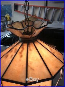 Harley Davidson Vintage Tiffany Style Hanging Lamp 15x15, Works