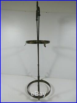 I48/ Vintage Aladdin Hanging Oil Lamp Frame & Shade