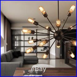 Industrial 18-Lights Vintage Decor Metal Sputnik Chandelier Pendant Hanging Lamp