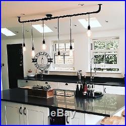 Industrial 6 X Hanging Pendant Drop Lights Ceiling Vintage Cafe Barn E27 Lamps
