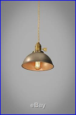 Industrial Steel Dome Pendant Lamp Vintage Hanging Light