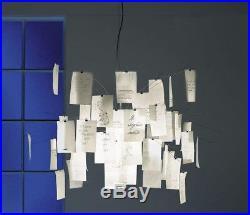 Ingo Maurer Zettel'z 5 Chandelier Hanging Paper Mesh Lamp Germany Vintage