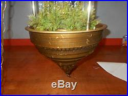 LARGE Oil Rain Lamp OLD MILL Hanging Swag Mineral Vintage Working GREAT