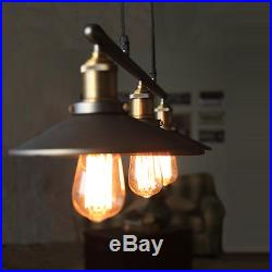 LOFT Vintage Pulley Pendant Ceiling Light Hanging Lamp Artistic Lighting Fixture