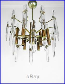 Lampadario Design Gaetano Sciolari Vetro Sospensione Vintage Hanging Lamp 1970