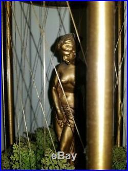 Large Vintage Hanging Mineral Oil Motion Rain Lamp Nude Greek Goddess Lady 36