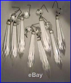 Lot of 165 vintage hanging French U-drop Crystal Glass Prism Lamp Parts
