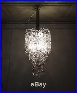 MAZZEGA murano glass vintage chandelier ceiling light hanging lamp