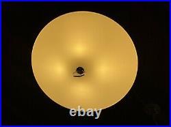 MCM Flying Saucer Hanging Light Fixture vtg Atomic Age UFO Lamp for jmgdds only