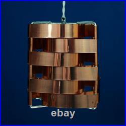 Max Sauze Rare Copper'Mars' Pendant Hanging Lamp 1960s-1970s Vintage Retro
