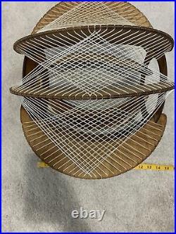 Mid Century Danish Modern Hanging Swag String Lamp Vintage