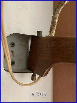 Mid Century Hanging Lamp Danish Modern Thurston Teak MCM Vintage MCM