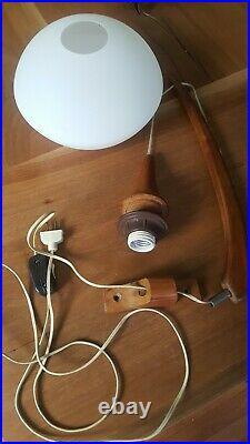 Mid Century Modern Danish Vtg Hanging Light Pendant Wall Mount Swing Arm Lamp