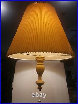 Mid Century Modern Swag Lamp Yellow Original Vintage Pendant Great Condition